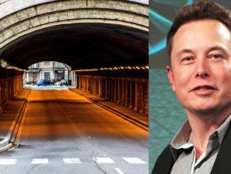 Elon Musk vill borra en tunnel i Södertälje. Bilden är ett montage.